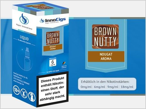 InnoCigs Brown Nutty Nougat eLiquid