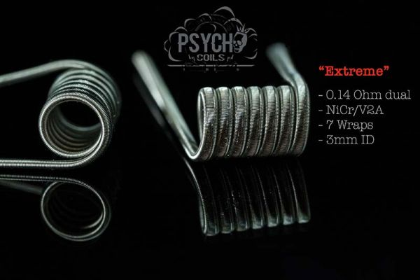 2x Psycho Coils Handmade Extreme 0,14 Ohm