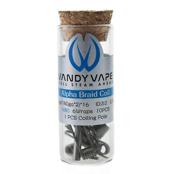 10x Vandy Vape Prebuilt Ni80 Alpha Braid Coil 0.3 Ohm