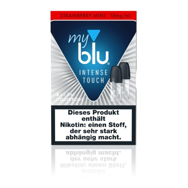 My Blu Intense Touch Strawberry Mint 18mg Nikotinsalz Liquidpots 2er Pack