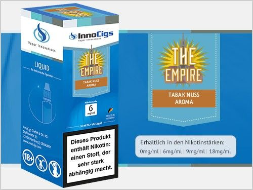 InnoCigs The Empire Tabak Nuss eLiquid