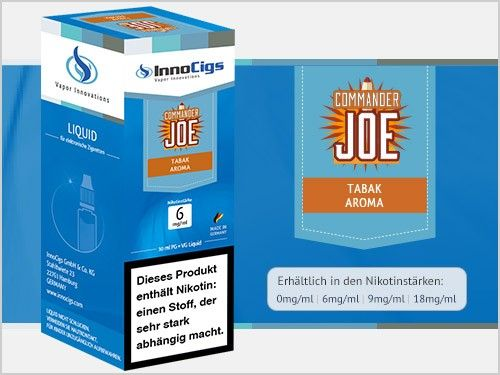 InnoCigs Commander Joe Tabak eLiquid