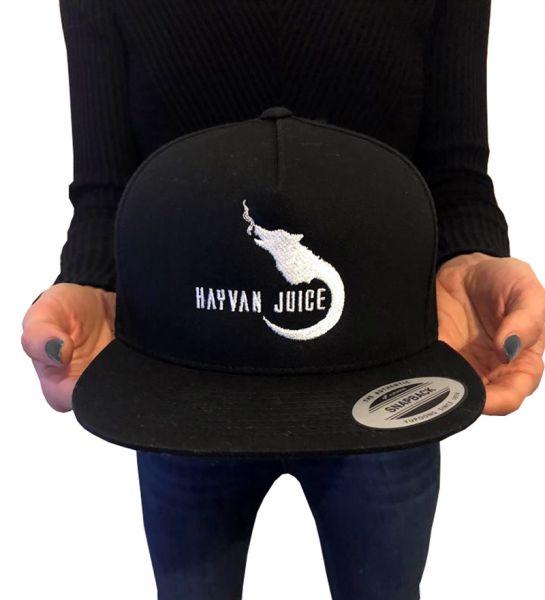 Hayvan Juice Cap Schwarz Logo Weiß