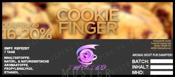 Twisted Aroma Cookie Finger