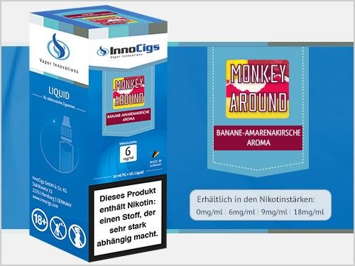 InnoCigs Monkey Around Banane Amarenakirsche eLiquid